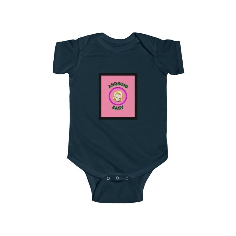 Dragon Ball Android 18 Baby Pink Cute New Born 24M Onesie