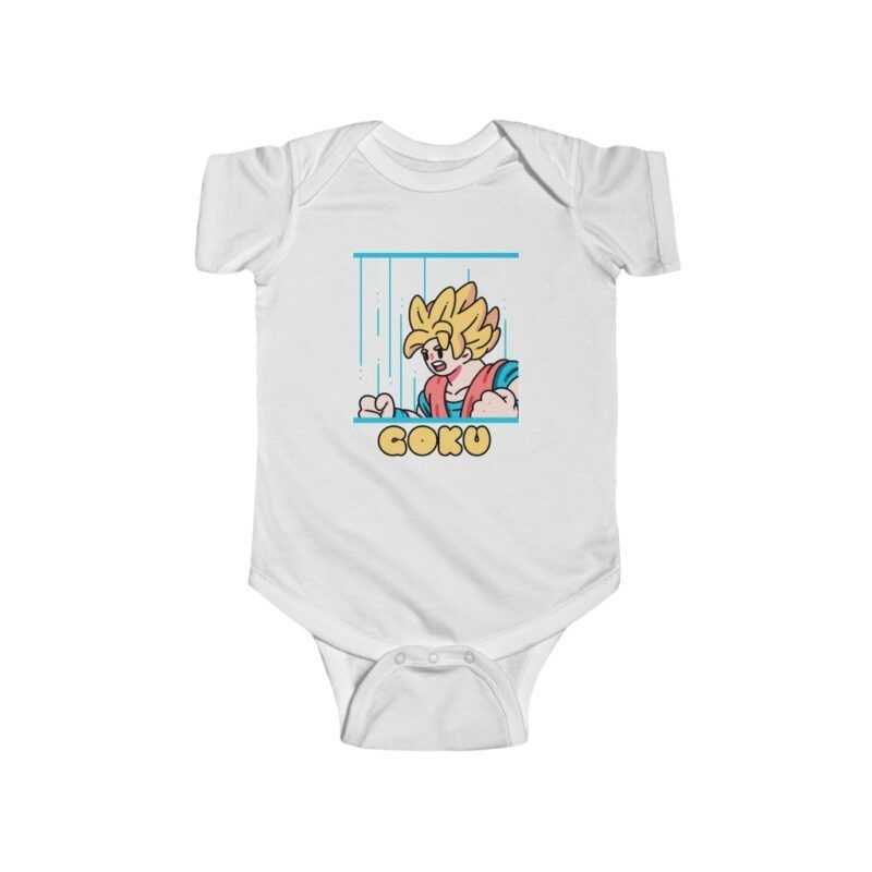 Dragon Ball Z Goku Cute Cartoon Style NB Baby Bodysuit