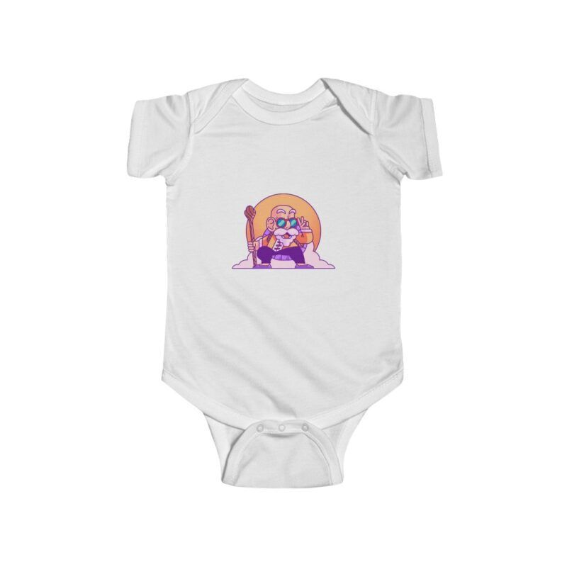 Dragon Ball Master Roshi Funny Peace Sign NB Infant Onesie