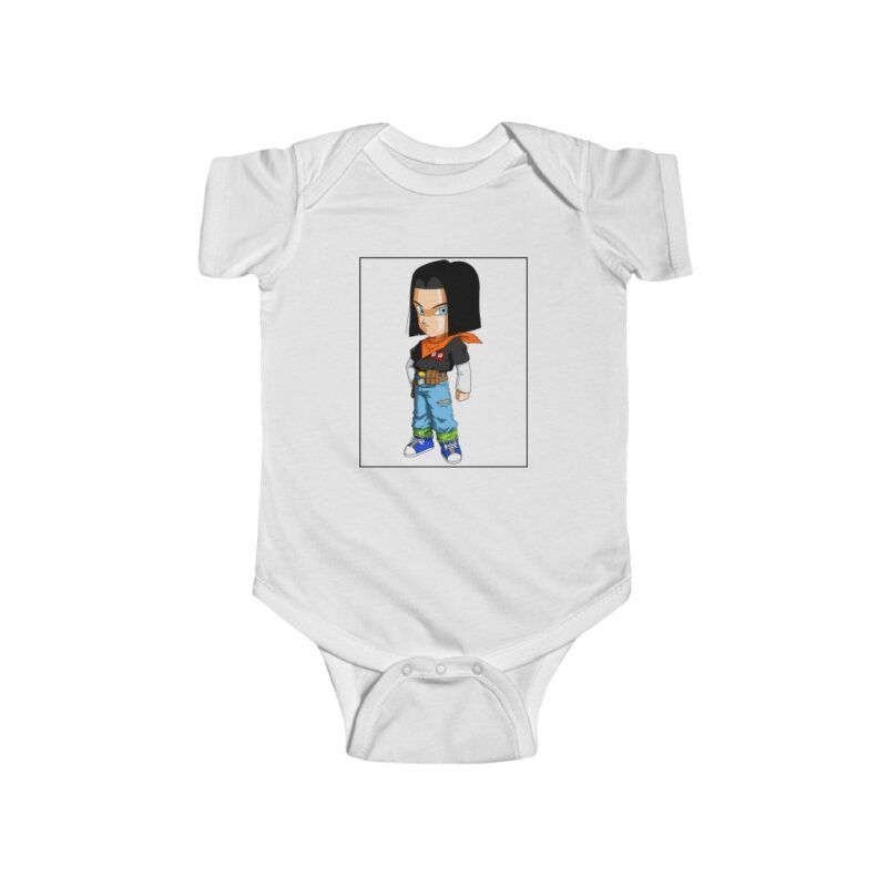 Dragon Ball Z Cute Chibi Android 17 Baby Suit Onesie 24M