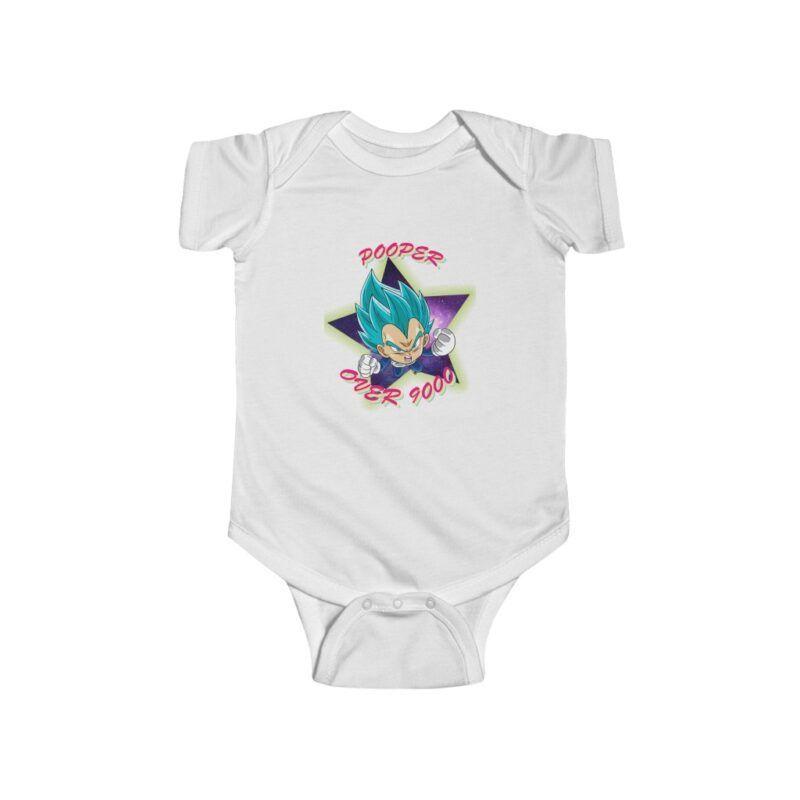 DBZ Vegeta Chibi Pooper Over 9000 Cute Toddler Bodysuit