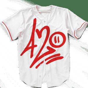 420 Percent Graffiti Minimalist Cannabis Baseball Jersey