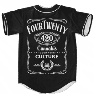 420 Wake And Bake Cannabis Kush Dope Cool Black Baseball Jersey