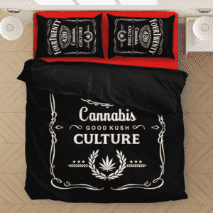 420 Wake And Bake Cannabis Kush Dope Cool Black Bedding Set