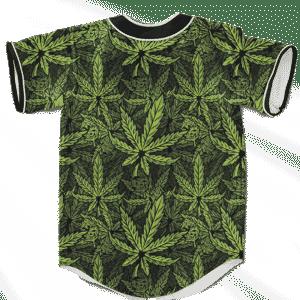420 Weed Hemp Marijuana Pattern Awesome Baseball Jersey