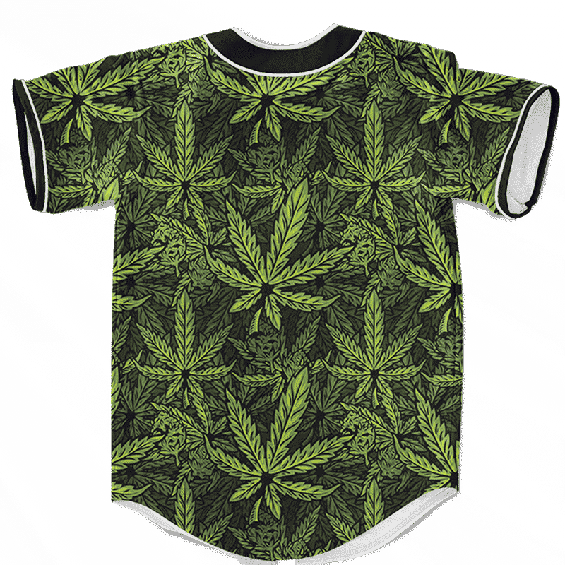 420 Weed Hemp Marijuana Pattern Awesome Baseball Jersey