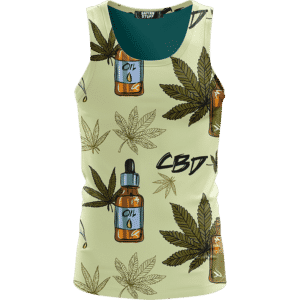 420 Weed Marijuana Dope CBD Minimalist Art Wonderful Tank Top