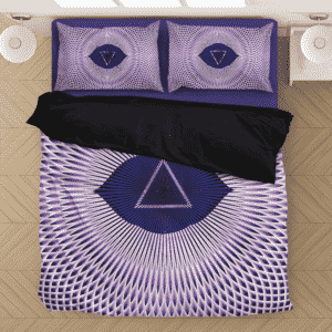 Ajna Third Eye Chakra Awaken Spiritual Purple Bedding Set