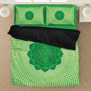 Anahata Heart Chakra Awaken Spiritual Green Bedding Set