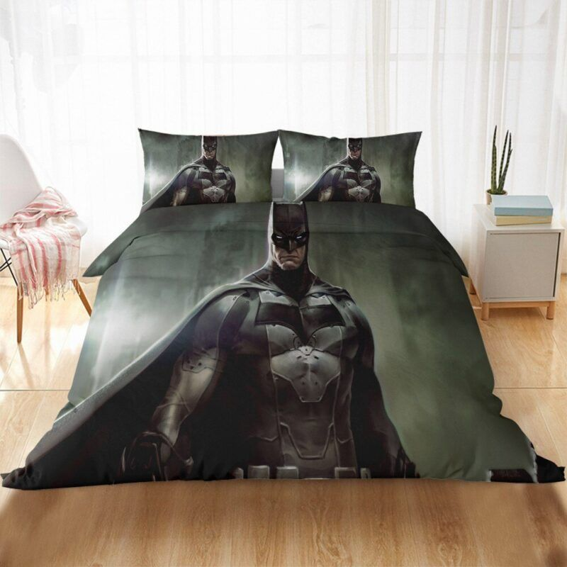 Batman Fierce Look Awesome Monochromic Fan Art Bedding Set