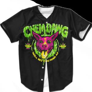 Chemdawg Strain Sativa Hybrid Indica Marijuana Baseball Jersey