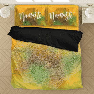 Color Splash Art Namaste Zen Spiritual Mandala Bedding Set
