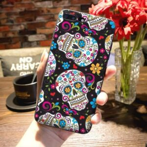 Colorful Calavera Skull Design Awesome iPhone 12 Case