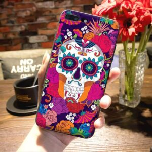 Colorful Floral Decorative Skull Awesome iPhone 12 Case