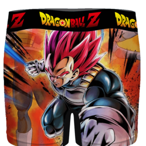 DBZ Attacking Vegeta Super Saiyan God Cool Men's Underwear - back