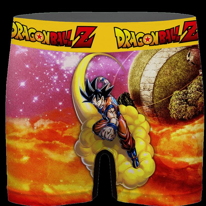 DBZ Goku Flying With His Nimbus Around The Galaxy Men's Brief