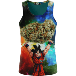 DBZ Goku Spirit Bomb Ganja Weed Colorful Awesome Tank Top