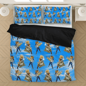 DBZ Goku Trunks Holding Bong Weed Relaxing Dope Bedding Set