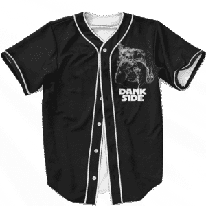 Darth Vader Smoke Dank Side Spoof Parody Baseball Jersey