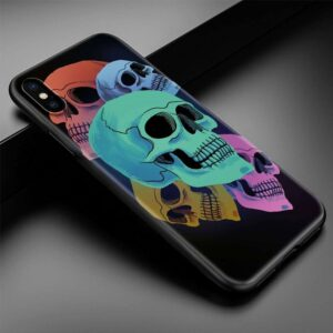 Different Skull Colors Plain & Simple Design iPhone 12 Case