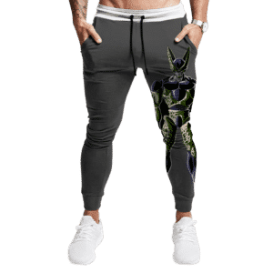 Dragon Ball Perfect Cell Print Gray Awesome Dope Joggers