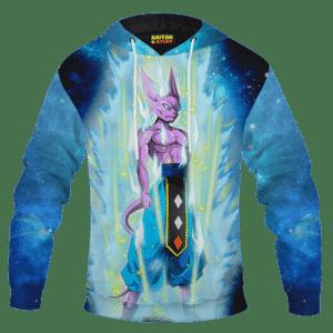 Dragon Ball Super God of Destruction Beerus Blue Galaxy Hoodie