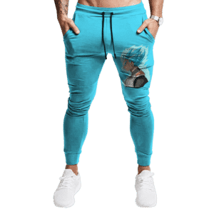 Dragon Ball Super Vegeta SSGSS Vector Cool Sky Blue Sweatpants