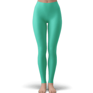 Dragon Ball Z Chibi Android 21 Cute Pastel Green Yoga Pants
