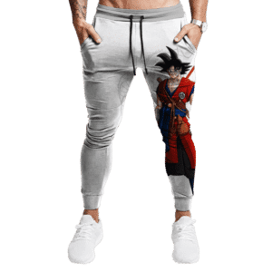 Dragon Ball Z Goku Base Form Cool Red Costume Minimalist Joggers