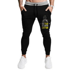 DBZ No Pain No Super Saiyan Goku Awesome Black Joggers