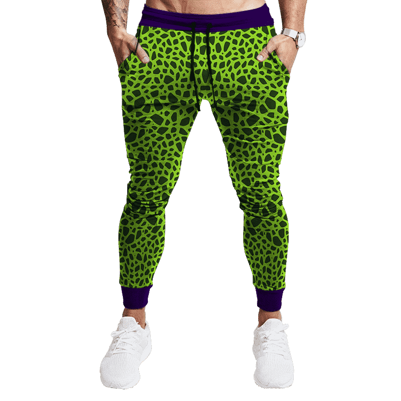 Dragon Ball Z Perfect Cell Pattern Cosplay Tracksuit Bottoms