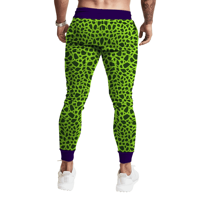 Dragon Ball Z Perfect Cell Pattern Cosplay Tracksuit Bottoms Back
