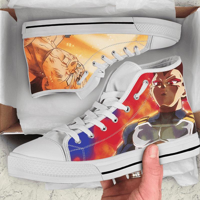 Dragon Ball Z Vegeta SSG Majin Awesome Art Sneakers Converse Shoes