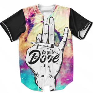 Forever Dope Awesome Galaxy 420 Marijuana Baseball Jersey
