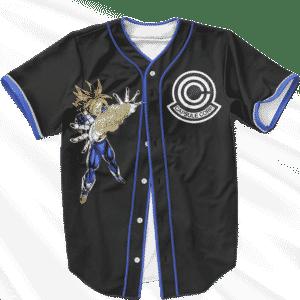 Future Trunks Blasting Nug Capsule Corp Stylish Baseball Jersey