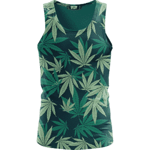 Hemp Leaves Marijuana Ganja Weed Kush Elegant Tank Top
