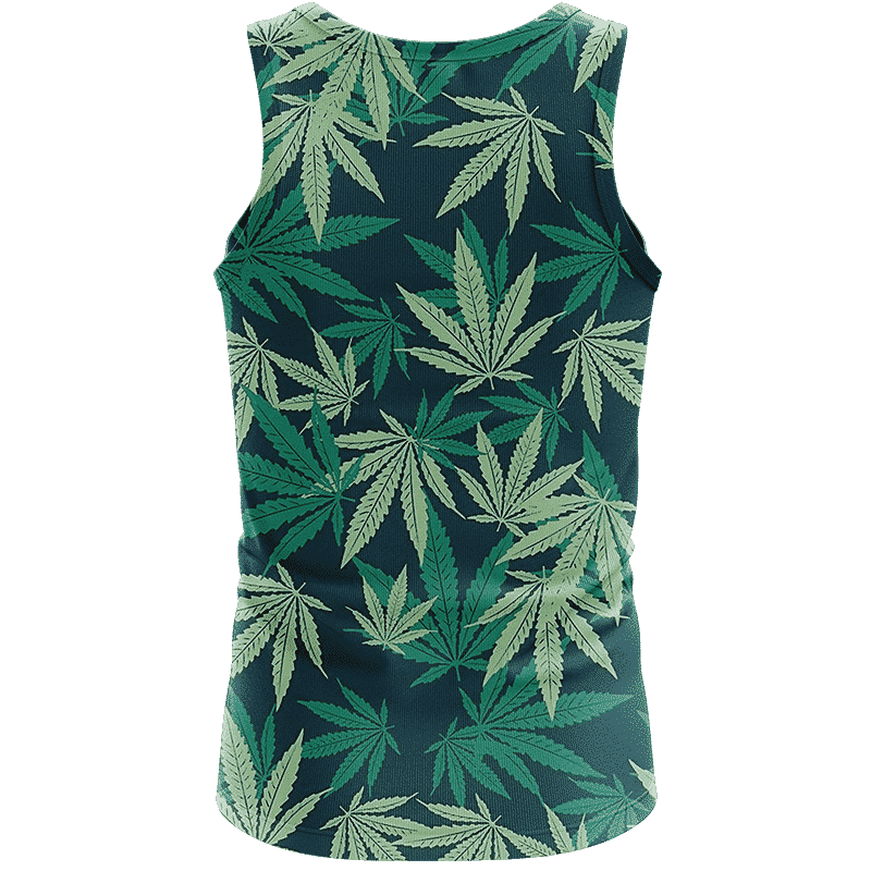 Hemp Leaves Marijuana Ganja Weed Kush Elegant Tank Top - back