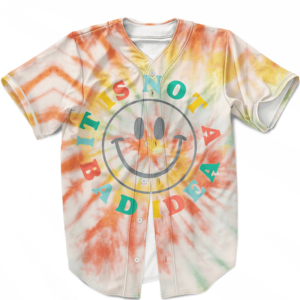 It Is Not A Bad Idea Reggae Tie Dye Stoner Weed Baseball Jersey
