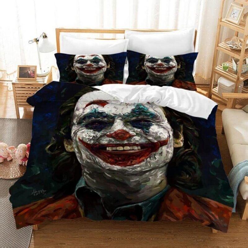 Joker's Famous Fake Smile Painted Style Fan Art Bedding Set