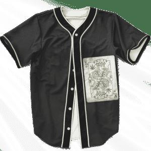 King Of Marijuana Card Awesome 420 Weed Black Baseball Jersey
