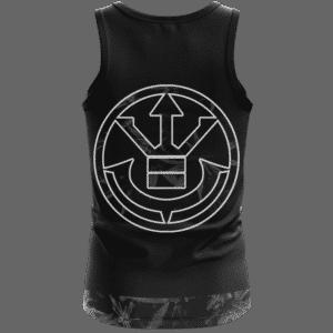 Kush Collective Marijuana Saiyan Logo Black Awesome Tank Top Back
