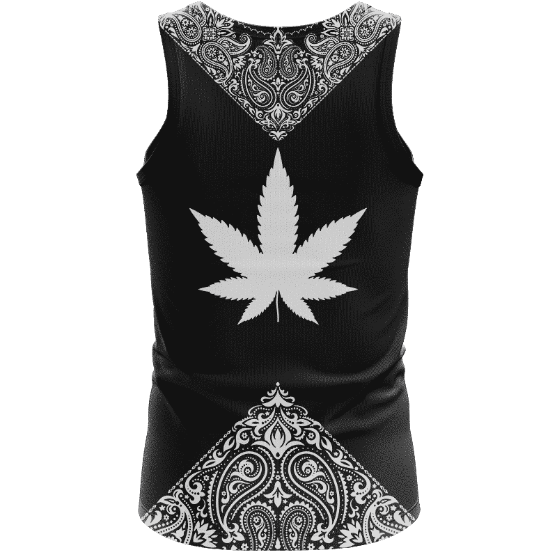 Legendary OG Kush Sativa Strain 420 Marijuana Dope Tank Top - Back