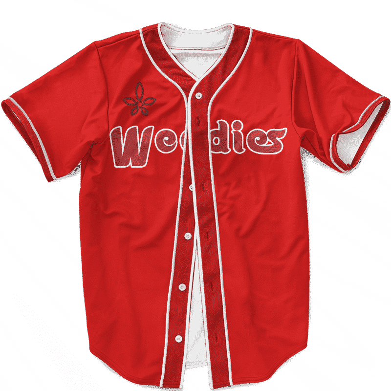 MLB Phillies Full Red Gorilla Glue 420 Cannabis Baseball Jersey
