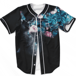 Man Smokes Weed Turns Floral Pattern 420 Kush Baseball Jersey