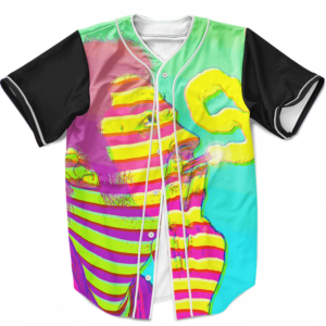 Man Smoking Blunt Hazy Effect 420 Marijuana Baseball Jersey