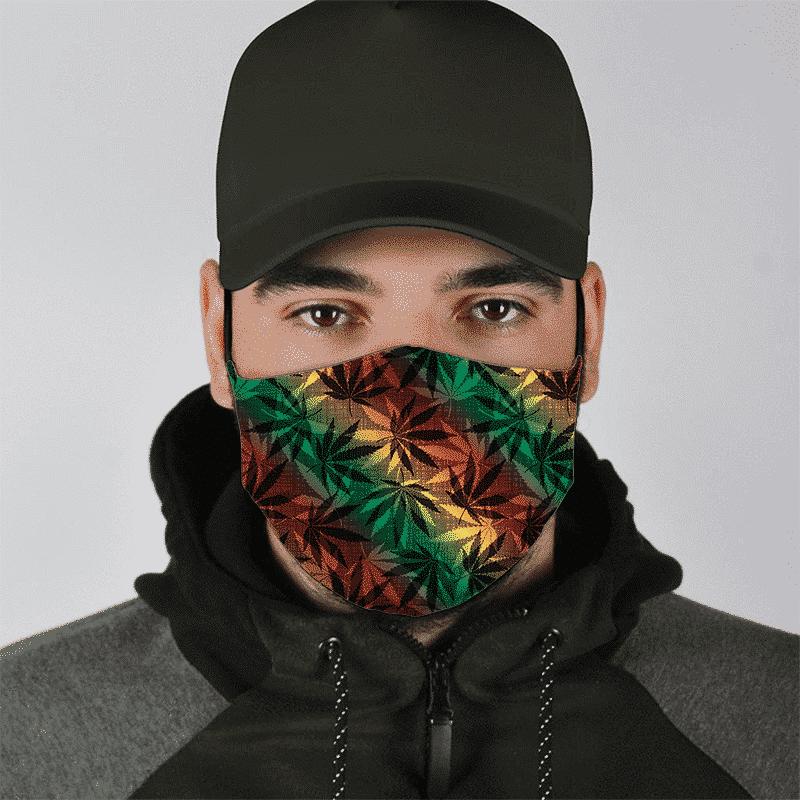 Marijuana 420 Weed Reggae Colors Amazing Face Mask - lifestyle 1