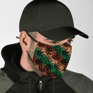 Marijuana 420 Weed Reggae Colors Amazing Face Mask -lifestyle 2