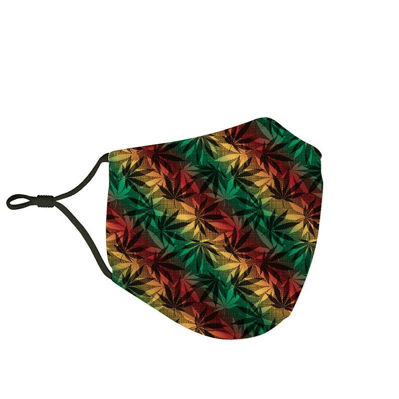Marijuana 420 Weed Reggae Colors Amazing Face Mask