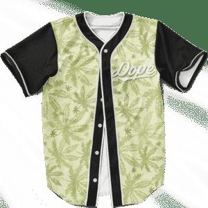 Marijuana Breezy Seamless Pattern Hemp Awesome Baseball Jersey