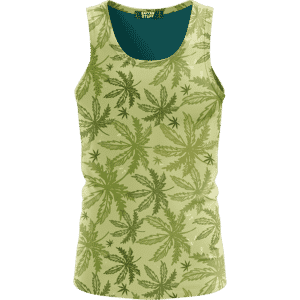 Marijuana Breezy Seamless Pattern Hemp Awesome Tank Top